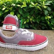 Кеды Vans Era красно-серые 35-45 , кроссовки, сникеры, шузы Код VanEr012 фото