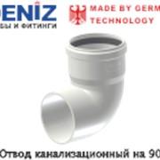 Отвод канализационный на 90°-DENIZ фото