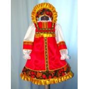 Костюм хохлома(сарафан, блузка, кокошник - ткань) фото