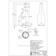Бутылка коньячная В-28-2, 0,5 литра бесцветная (прозрачная) фото