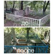 Уборка на кладбище в Витебске фото