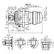 Гидромотор планетарно-роторный с тормозом и выходным валом GPR-F-M 160 фото