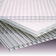 Листы(2.1х6 и 12 м.) сотового поликарбоната 4 мм. 0,5 кг/м2. фото