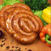 Колбаса домашняя полукопчёная фото