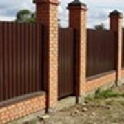 Ворота и заборы из профнастила фото