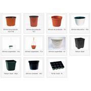 Горшки для цветов пластиковые
