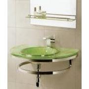 Раковина стеклянная для ванной Accona А702-62(салатовая) фото
