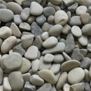 Галька морская серо-бежевая 20-40мм фото