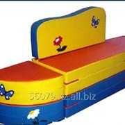 Мебель детская Вера.Диван-мат (100*50*40) – 1 шт., пуфик угловой (D50*40) - 2 шт. фото