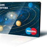 Услуги по обслуживанию платежных карт Maestro