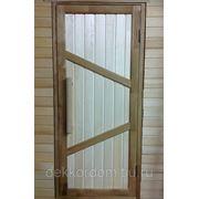 Дверь из массива Дуба и Осины 800х1800мм - Ласточкин Хвост фото