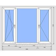 Окно ПВХ 1800х1400мм