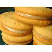 Печенье с кремом фотография