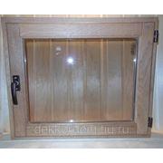 Окно для бани 400,500х500мм открывающееся Дуб фото