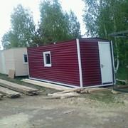 Вагончик бытовка 6мх2,4мх2,5м красный цвет фото