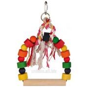 Качелька для птиц с разноцветными деревянными элементами Trixie фото