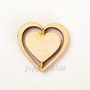 Заготовка Сердце с прорезями 497 фото