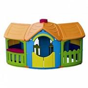 Детский пластиковый домик с двумя пристройками Marian Plast 666 фото