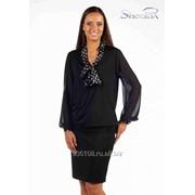 Блуза 1534-1 Чёрный цвет фото