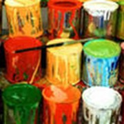 Краска различных цветов. фото