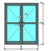Штульповая входная дверь из теплого алюминия фото