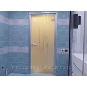 Стеклянные двери в алюминиевой коробке фото