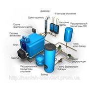 Монтаж водяного и воздушного отопления фото
