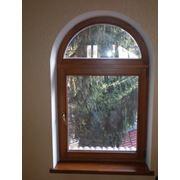 Деревянные окна из сибирской лиственницы фото