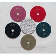 """Гибкие полировальные круги (""""черепашки"""") D 80 mm для работы на сухую (30 шт.) фото"""