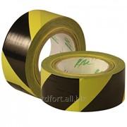 Лента для ограждения черно-желтая 50мм x 200м, арт. 1150 фото