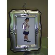 Фоторамка с серебряным окладом фото