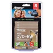 Memorex mini DVD+RW disc 14GB 4x 5 Pcs Slim box фото