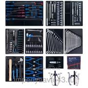 Набор инструментов для тележки, 10 ложементов, 204 предмета KING TONY 946-100MRD-MT фото