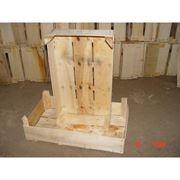 Ящики деревянные из натуральной древесины (тополь) вес 450-480 гр. фото
