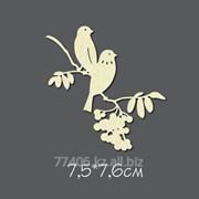 Чипборд Птахи на рябине фото