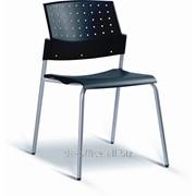 Стул посетителя Moovi, каркас серый, пластик черный, 298988 фото