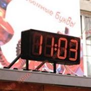 Часы-термометр электронные для улицы и помещений фото