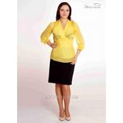 Блуза 6503 Желтый цвет фото