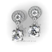 Серьги с бриллиантами E29264-3