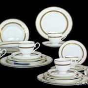 Столово-чайный сервиз LORA 30 предметов (H7-001) фото