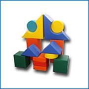 Мягкий напольный конструктор из 20 элементов Стандарт эконом 30*30*30 фото