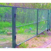 Ворота металлические с пластиковой сеткой 1. фото