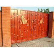 Откатные консольные ворота фото