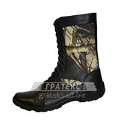 Берцы (ботинки) Омон-4, облегченные на молнии КМФ лес фото