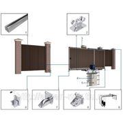 Система роликов и направляющих для сдвижных ворот для балки 71х60х3,5 фото