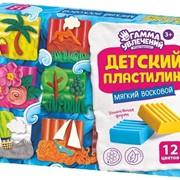 Пластилин детский ВОСКОВОЙ 6,9,12 цветов фото