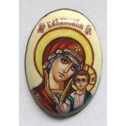 Богородица Казанская. Финифть. Вставка для ювелирного изделия фото