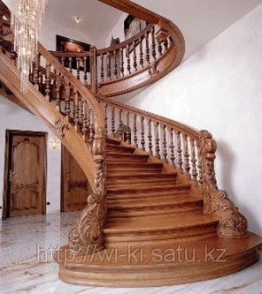 Лестницы из дерева для дачи и загородного дома на