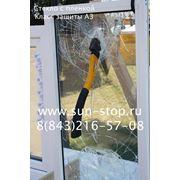 Бронирование оконного стекла по классу защиты А3 фото