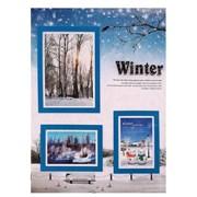 Фоторамка Сима 3фото наклейка Зима фото